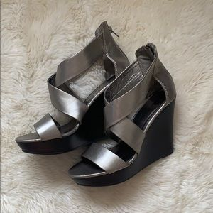 Mossimo Supply Co. Shoes - Silver Wedges